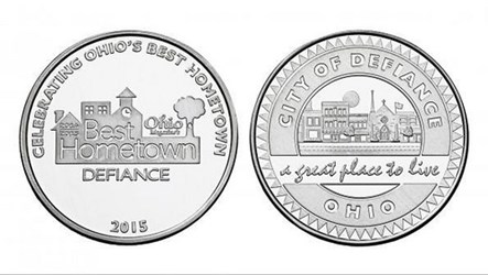DEFIANCE, OHIO SOUVENIR COINS