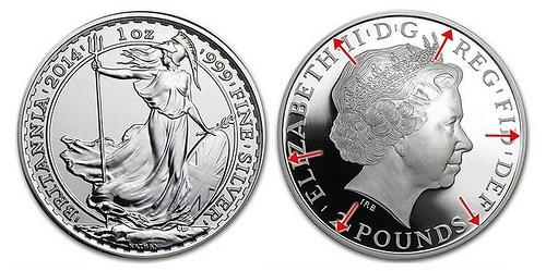 2014 'MULE' BRITANNIA ERROR £2 BULLION COINS