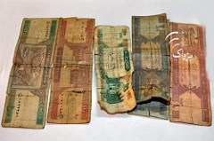 AFGHANISTAN PLAGUED WITH OLD WORN BANKNOTES