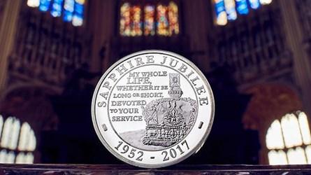 QUEEN ELIZABETH'S SAPPHIRE JUBILEE COINS