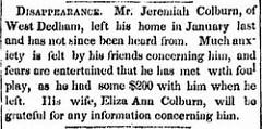 JEREMIAH COLBURN (1815-1891)