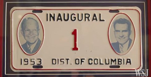 NO TRUMP INAUGURAL LICENSE PLATES?