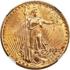 1922-S DOUBLE EAGLE ?FILED DIE? VARIETY DISCOVERED