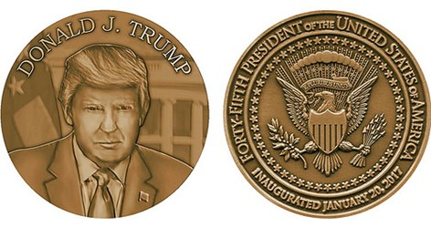 MEDALCRAFT MINT TO PRODUCE TRUMP INAUGURAL MEDAL