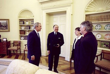 OVAL OFFICE PHOTO WITH MINT DIRECTOR MOY