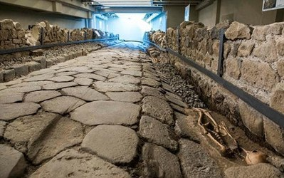 MCDONALD'S FEATURES AN ANCIENT ROAD