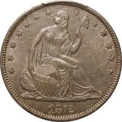 COUNTERFEIT 1872-S LIBERTY SEATED HALF