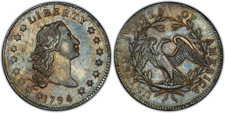 THE FIRST 1794 DOLLAR RELEASED