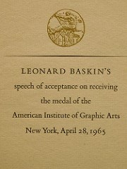 1920 AMERICAN INSTITUTE OF GRAPHIC ARTS MEDAL