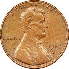 BRONZE 1982-D SMALL DATE CENT ERROR DISCOVERED