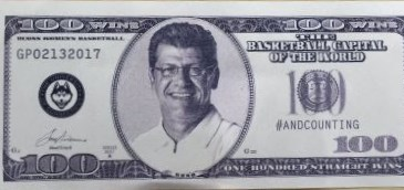 CENTURY BILL PROMOTES UCONN 100TH WIN