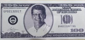 CENTURY BILL PROMOTES UCONN 100TH WIN