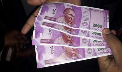 INDIA ATM DISPENSES PLAY MONEY