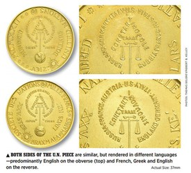 A MYSTERY UNITED NATIONS GOLD PATTERN