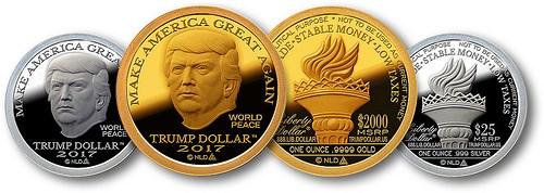 SILVER AND GOLD TRUMP DOLLARS OFFERED