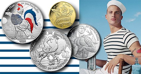 DESIGNER GAULTIER CREATES FRENCH COINS