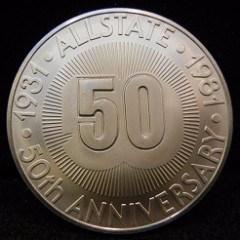 1981 ALLSTATE 50TH ANNIVERSARY MEDAL