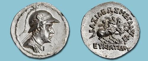 BACTRIAN TETRADRACHM OF KING EUCRATIDES