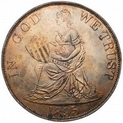 BRENNER'S 1895 ONE DOLLAR COIN DESIGN