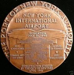 NEW YORK INTERNATIONAL AIRPORT DEDICATION MEDAL