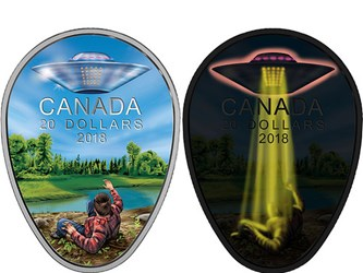 ROYAL CANADIAN MINT ISSUES UFO ENCOUNTER COIN