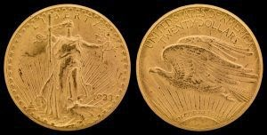 MINT TO EXHIBIT 1933 GOLD DOUBLE EAGLE AT PAN