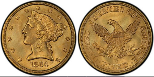 CIVIL WAR SAN FRANCISCO MINT GOLD