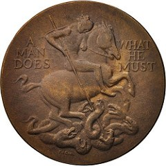 POL DOM AND THE GOLD KENNEDY NOBLE SERVANT MEDAL