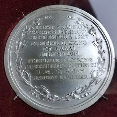 A SILVER CAPE COD CANAL COMPLETION MEDAL