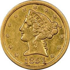1854-S HALF EAGLE DISCOVERY