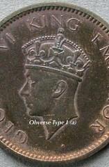BRITISH INDIA GEORGE VI QUARTER ANNA VARIETIES