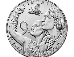 SCARINCI ON THE BREAST CANCER AWARENESS COIN