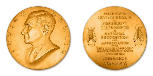IRVING BERLIN CONGRESSIONAL MEDAL IMAGE FOUND