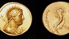 KING PTOLEMY III GOLD COIN FOUND IN EGYPT