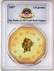 SS CENTRAL AMERICA GOLD NUGGET MEDALS
