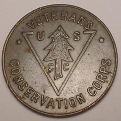 CIVILIAN CONSERVATION CORP CAMP TOKENS