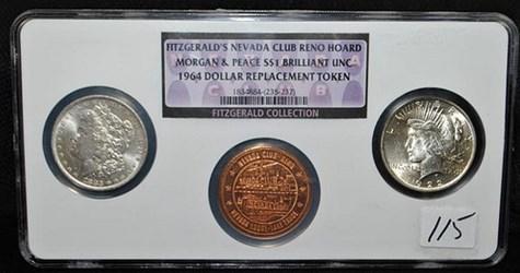 FITZGERALD'S NEVADA CLUB RENO HOARD