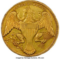 1792 WASHINGTON PRESIDENT GOLD EAGLE PROVENANCE