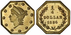 SS CENTRAL AMERICA FRACTIONAL GOLD COINS