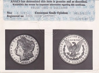 QUERY: ANACS GRADER IDENTIFICATION SOUGHT