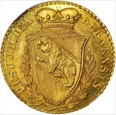 1798 SWISS CANTON BERN FOUR DUCATS