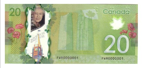 SERIAL NO. 1 CANADIAN $20 NOTE FOUND