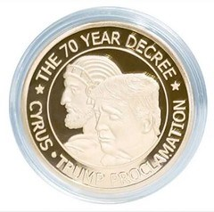 CYRUS-TRUMP PROCLAMATION COIN PROMOTED