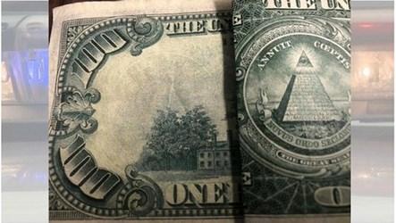 DOLLAR BILL ALTERED INTO A $100