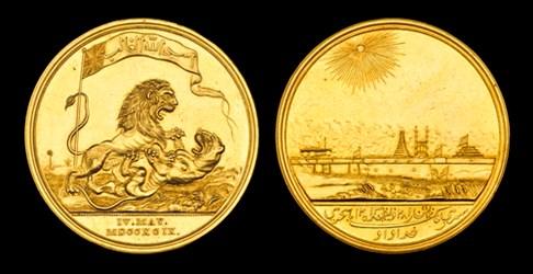 ANCIENT COIN SOURCE FOR LION VS. LION MEDAL?