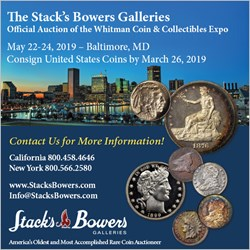 ANCIENT COINS IN APRIL 2019 ROBINSON AUCTION