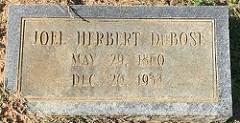 JOEL HERBERT DU BOSE (1860-1934)