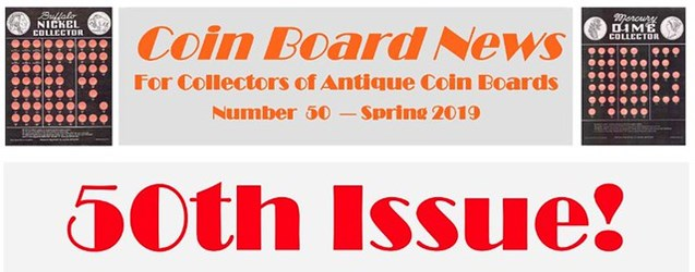 COIN BOARD NEWS 50TH ISSUE PUBLISHED