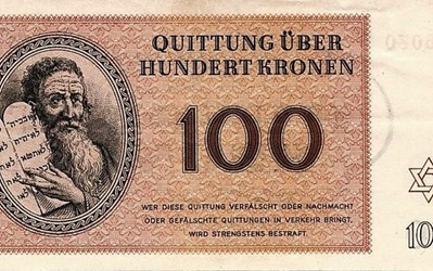 THERESIENSTADT GHETTO CURRENCY DONATED