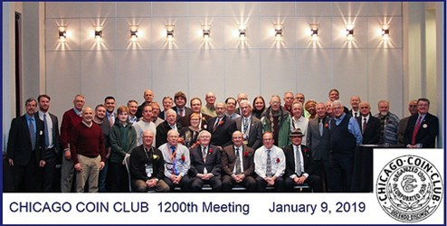 MORE ON THE CHICAGO COIN CLUB 1,200TH MEETING